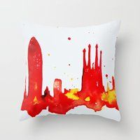 barcelona Throw Pillows featuring Barcelona by Talula Christian