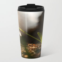 Light In Shade. Snowdrop Flower Bathing In Sun #decor #society6 Travel Mug