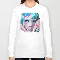 grimes Long Sleeve T-shirts featuring Grimes by Tiffany Baxter