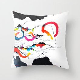 Fissures#4 Throw Pillow