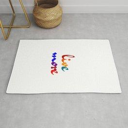 live more colorful design Rug