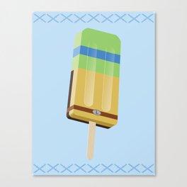 Ninja Turtles Ice Pops: Leo Canvas Print
