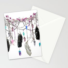 Raven Feathers And Roses Crystal Spirit Gazer Stationery Cards