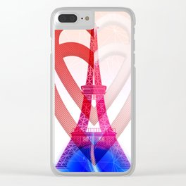 PARIS LOVE Clear iPhone Case