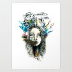 dreams of smoke Art Print
