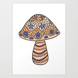 A Single Mushroom (2) Art Print