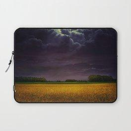 Wheat field under the purple sky Laptop Sleeve