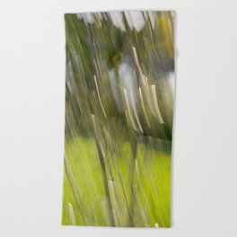 Light Forest Abstract Beach Towel
