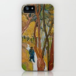The Garden of Saint-Paul Hospital by Vincent van Gogh iPhone Case