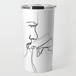 """ Profile Collection "" - Man Drinking Beer Travel Mug"