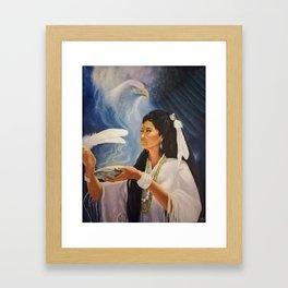 Native American Shaman Framed Art Print