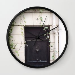 The Black Door at No. 9 Wall Clock