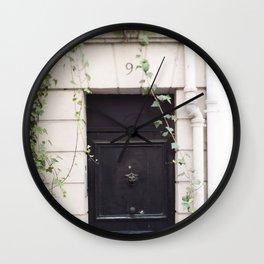 The Black Door at No. 9 Wall Clock