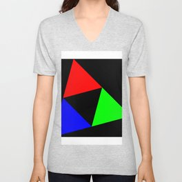 Triangles in a Square Unisex V-Neck