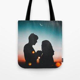 MAN - WOMAN - HANDS - LIGHTS - CIRCLES - PHOTOGRAPHY Tote Bag