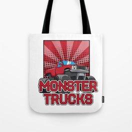 Monster truck Trucks Tote Bag