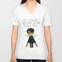 snk V-neck T-shirts featuring Heichou by lemonteaflower