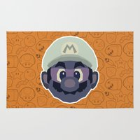 mario Area & Throw Rugs featuring Mario by Kuki