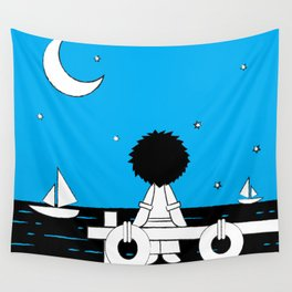 Midnight Harbour - Retraced Wall Tapestry