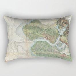 San Antonio Creek 1857 Rectangular Pillow