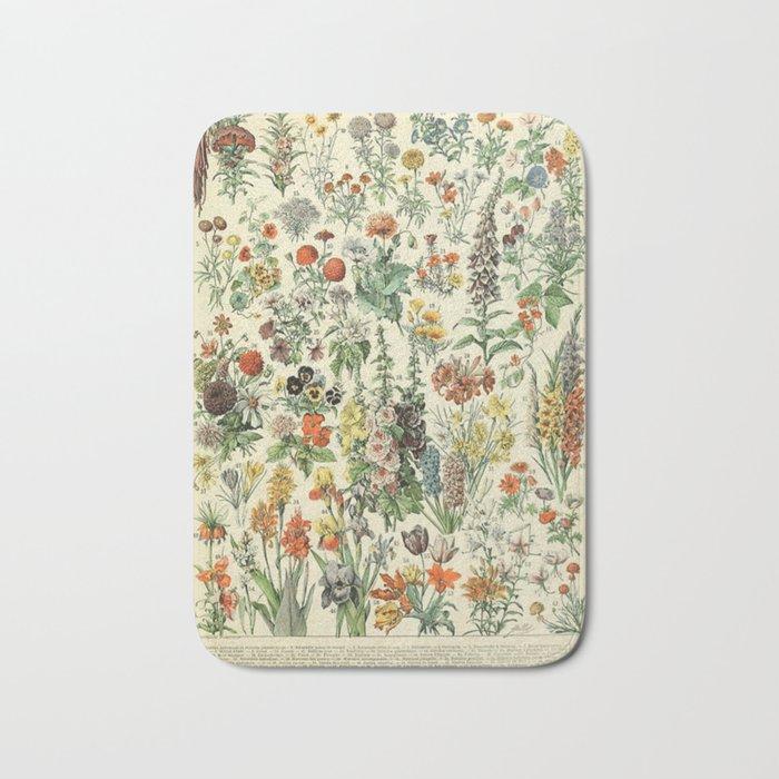 Adolphe Millot Vintage Fleurs Flower 1909 Badematte