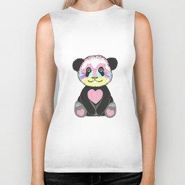 I Love Pandas Biker Tank