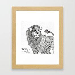 timidly brave Framed Art Print