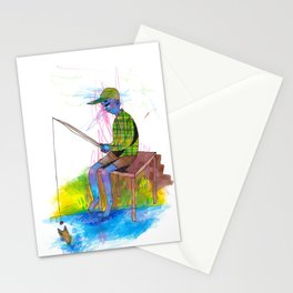 Fishing on the Dock Stationery Cards