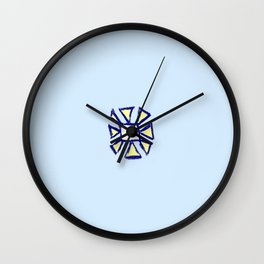 flower and square Wall Clock