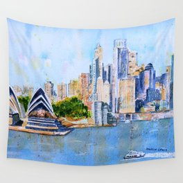 Colorful Sydney Harbor Wall Tapestry