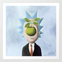 Rick and Magritte Art Print