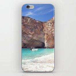 Corfu. Greece. Wild beach among the rocks. iPhone Skin