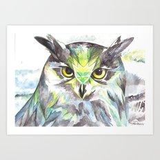 Dreamy Owl Art Print