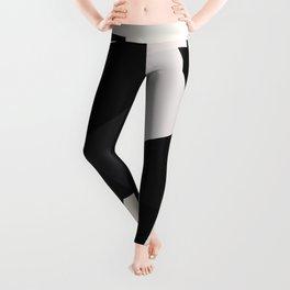 Mid Century Modern Geometry 1 black grey beige Leggings