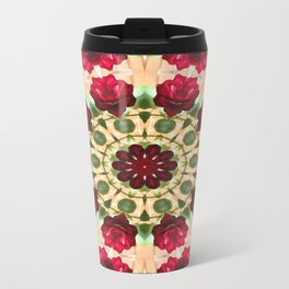 Old Red Rose Kaleidoscope 8 Travel Mug