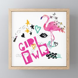 Girl Pwr Framed Mini Art Print