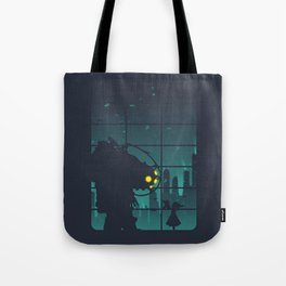 bioshock big daddy Tote Bag