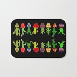Cactus in black Bath Mat
