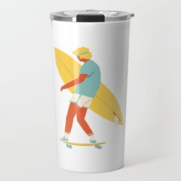 Skater from 70s Travel Mug