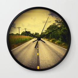Louisiana Highway 82, an ample opportunity to see gators crossing the road Wall Clock