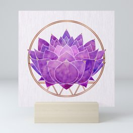Pink Lotus Mini Art Print
