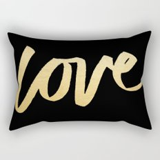 Love Gold Black Type Rectangular Pillow