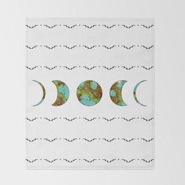 Aztec Moon Throw Blanket
