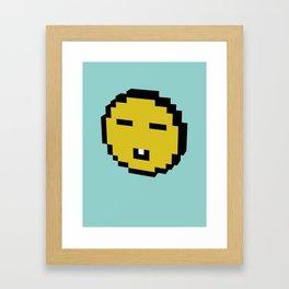 asian smiley Framed Art Print