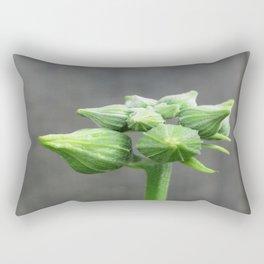 beauty in the mundane - luffa buds Rectangular Pillow
