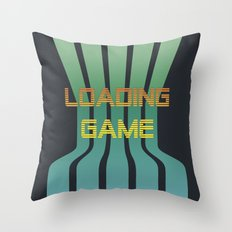 Loading Game Throw Pillow