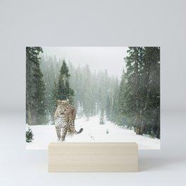 Persian Leopard Snow Mini Art Print