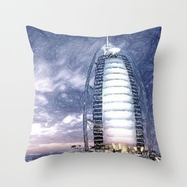 The Pride Of Dubai Throw Pillow