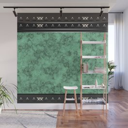 Marble . green marble pattern . Wall Mural
