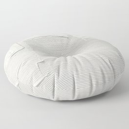 Relief [2]: an abstract, textured piece in white by Alyssa Hamilton Art Floor Pillow
